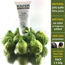 hair loss prevention regrow healthy soft hair Thai natural kaffir lime shampoo