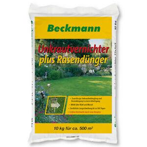 Désherbant Beckmann plus engrais à gazon 10 kg Effet à long terme NPK 22 5 5