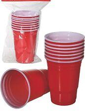Trinkspiel Beer Pong 8 Stück Becher Spiel Geschicklichkeitsspiel Trinkbecher Rot
