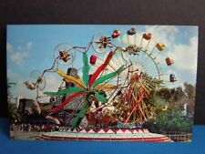 VINTAGE PONTCHARTRAIN BEACH  POST CARD FERRIS WHEEL- NEW ORLEANS 1960s