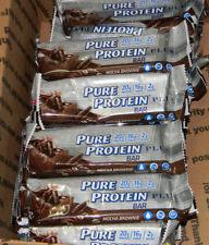 60 Pure Protein PLUS Mocha Brownie Bar  GMO & Gluten Free 07/17