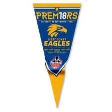 Official AFL West Coast Eagles Premiers 2018 Statistics Felt Wall Pennant Flag