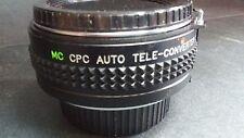 MC CPC AUTO Tele-Converter 2x FOR M/MD with Case, 2 Caps, Fits Minolta