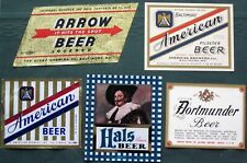 Baltimore Maryland Breweries antique Beer Bottle Labels Lot of 5