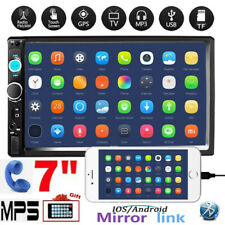 7'' 2 DIN Car Radio Bluetooth Touch Screen FM USB TF Mirror link MP5 Player AUX
