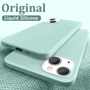 Hülle für iPhone 13 Pro Max 12 11 XR XS 7 8 Plus Silikon Handy Schutz Tasche