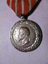 Médaille de la Guerre d'Italie 1859 Barre ruban d'époque FLEUR DE COIN