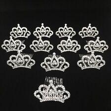 Princess Crown Comb Tiara Hair Clips For Princess Party Favor 12 pcs