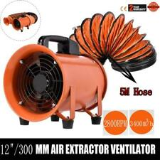 12 Industrial Extractor Fan Blower With 5m Duct Hose Garage Electrical Utility