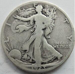 1923 S UNITED STATES, Liberty Walking silver Half Dollar grading VERY GOOD. RARE