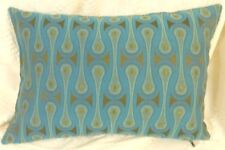 Maharam 9267 Turquoise fabric Modern Mid Century Bolster Pillow