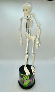 """Shaking Skeleton With Green Eyes & Eerie Sound -- 15"""""""