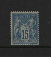 "FRANCE YVERT 90 SCOTT 92 "" PEACE COMMERCE SAGE 15c BLUE "" MNH VF T845"