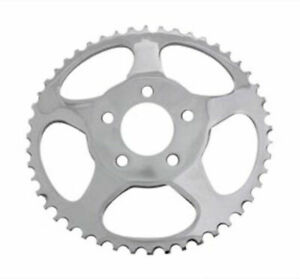 Chrome Dished Star 48 Tooth Rear Sprocket Chain 9.8 mm Offset 2000-Up Harley