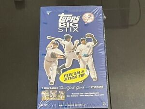 2008 Topps Big Stix New York Yankees Factory Sealed Box MLB Stickers