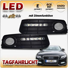 Audi A4 B8 TYP 8K LED Tagfahrlicht dimmbar CHROM im Nebelgitter Bj2007-10/2011