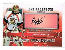 2012-13 PHILIPPE CADORETTE BETWEEN THE PIPES GOALIEGRAPH AUTO #A-PC BAIE-COMEU