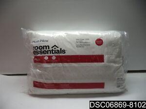 Qty= 3: Room Essentials Plush Pillow Standard/Queen, White, 022415562225