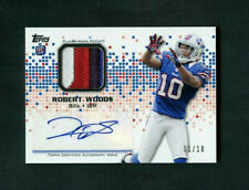 2013 Robert Woods Topps Rookie RC 3-Color Patch Auto 01/10 SSP