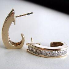 FABULOUS - Estate 14k Yellow Gold Diamond Earrings 1.12 CTW