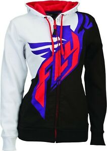 NOS FLY RACING 358-5088M ARCTIC AMBIANCE HOODY WHITE BLACK PURPLE SIZE WOMENS MD