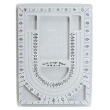 Flocked Bead Design Board Beading Organiser Tray Jewelry Tool 24x32x1.5 cm NEW