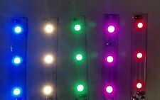 "Easy Ho scale (Lot of 5) 2"" 3 LED color variety strips"