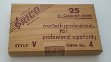 BRAND NEW VINTAGE OLD STOCK Rico Eb Clarinet Reeds Box of 25 (Strength 4)