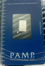 1 GRAM  PLATINUM BAR  PAMP SUISSE FORTUNA IN SEALED ASSAY CARD  No.CO15790