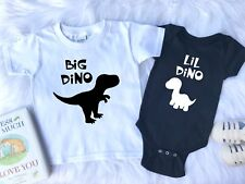 Sibling Outfit, Sister Outfits , Brother Outfits, Big Dino, Lil Dino, Dinousaur
