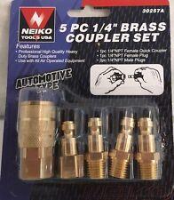 5 Pc Brass Air Couplings Automotive Type