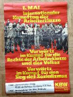 altes Plakat - KBW , 1. Mai 1977, Kampftag der internationalen Arbeiterklasse