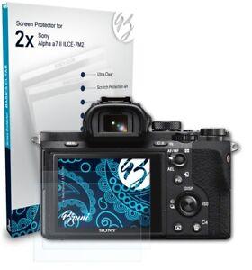 Bruni 2x Folie für Sony Alpha a7 II ILCE-7M2 Schutzfolie Displayschutzfolie