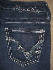BIG STAR Sweet Boot Ultra Low Rise Stretch Dark Denim Jeans Womens Size 25 x 27
