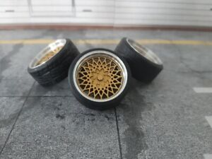 1:18 Scale BBS E50 18 INCH REAL ALU WHEELS, NEW! several colors available!
