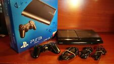 2010 Playstation 3 Super Slim 500GB Console CECH-4004C + accessories PS3 + Box