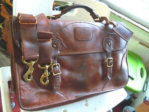 Vintage Orvis Leather Orvis/Gokey Briefcase Made in USA    14