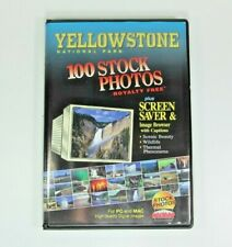 100 Vintage Royalty Free Stock Photos Bmp on Cd Topic:Yellowstone National Park