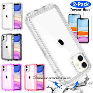 iPhone 11 Pro Max 8 Plus XS Max XR Clear Phone Case Shockproof Bumper Hard Cover