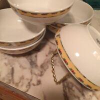 Gibson Dinnerware 2003 Snowman Frolic Soup Bowls 6 Inch Set Of Six