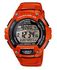 Casio Watch * WS220C-4AV Tough Solar Power 120 Lap Orange Resin COD PayPal