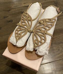 NEW Sophia Webster Bibi Butterfly Stud Flat Sandal EU 36.5 US 6 NIB FREE Ship