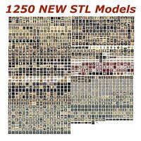 1250 NEW 3d STL Models for CNC Routers and 3d-Printers Artcam Aspire Cut3d