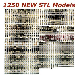 1250 NEW 3d STL Models for CNC Routers and 3d-Printers Artcam Aspire Cut3d