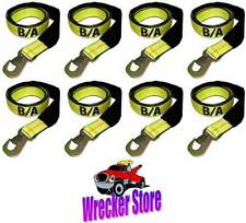 SET OF (8) WHEEL LIFT STRAPS w/ SNAP HOOK - for DYNAMIC CENTURY VULCAN AUTO LOAD