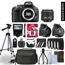 Nikon D5200 Digital SLR Camera 3 Lens Kit + 64GB Multi Accessory Bundle