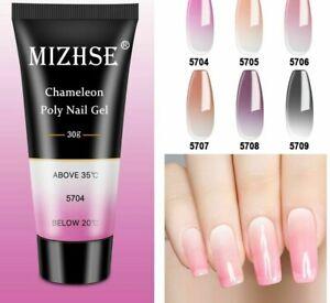 Temperature Nail Gel Poly Change Color Crystal Hybrid Varnish Base Top Manicure