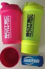 2 Eiweiß Shaker Scitec Protein Mixer mit Sieb 600 ml mit Fach f.Proteinpulver
