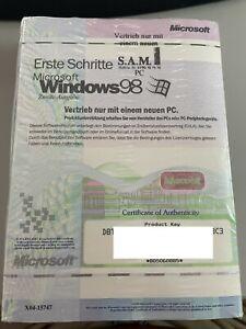 WINDOWS 98 Zweite Ausgabe / SE -  OEM - mit Handbuch - NEU in FOLIE - mit KEY -3