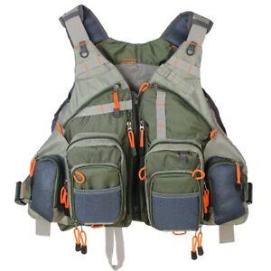 PRO  Mutil-Pocket Vest Fly Fishing Vest Pack For Men Adjustable Size Breathable